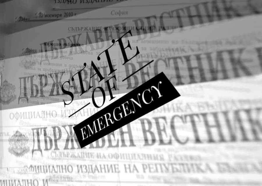 Brief guidance on new Bulgarian State of Emergency Measures Act