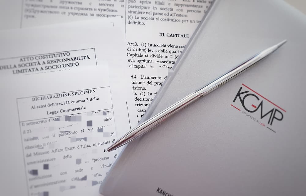 Costituzione di una società in Bulgaria