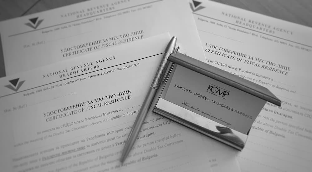 Certificato di Residenza Fiscale in Bulgaria